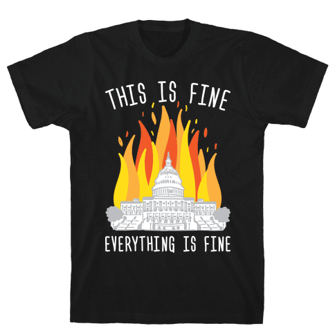 This Is Fine Everything Is Fine U.S. Capitol Mens T-Shirt