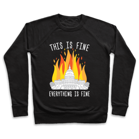 This Is Fine Everything Is Fine U.S. Capitol Pullover
