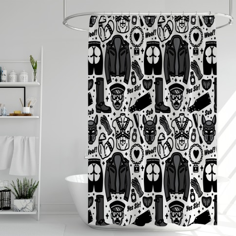 Leather Daddy Pattern Shower Curtain