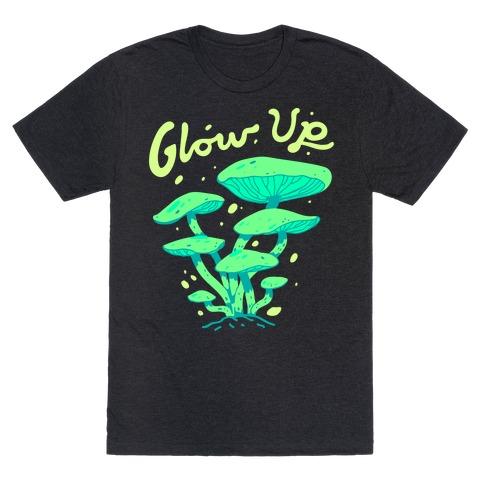 Glow up Bioluminescent Mushrooms T-Shirt