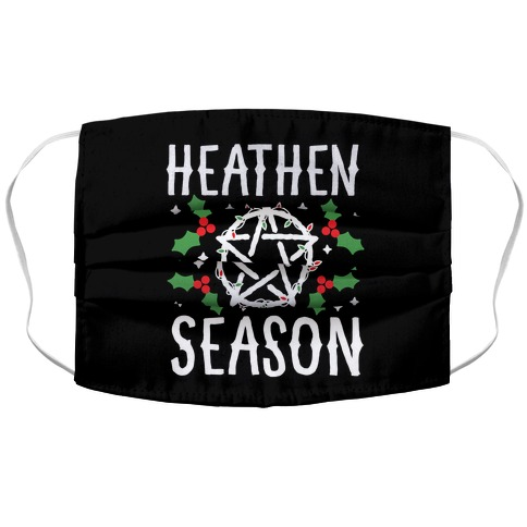 Heathen Season Christmas Accordion Face Mask