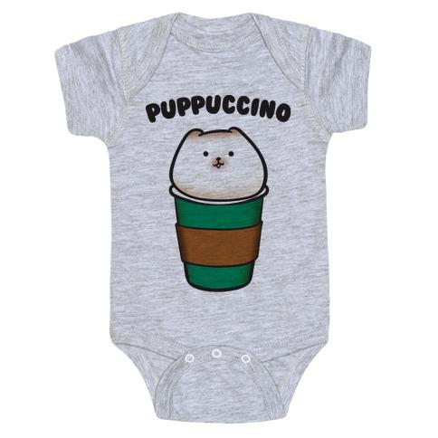 Puppuccino Parody Baby Onesy