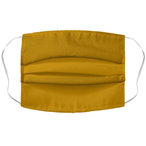 Yellow Ocher Accordion Face Mask