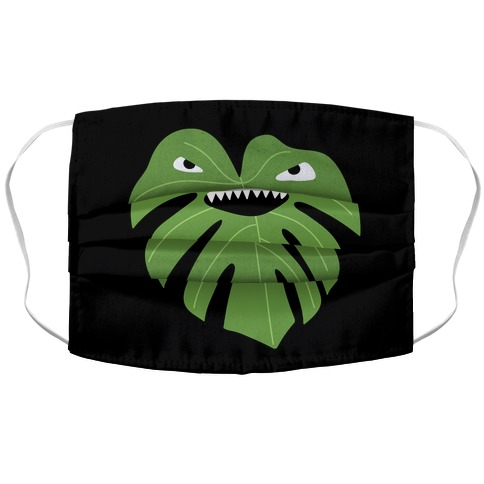 Monstera Leaf Monster Face Mask Cover