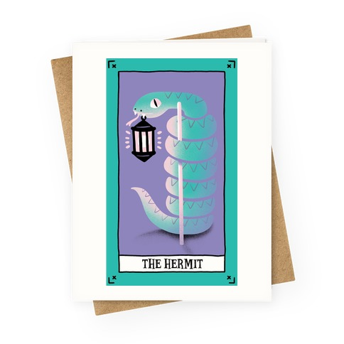 Creepy Cute Tarots: The Hermit Greeting Card