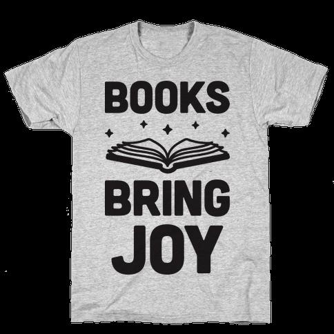 Books Bring Joy Mens T-Shirt