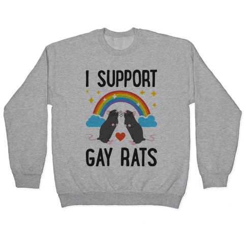 I Support Gay Rats Pullover