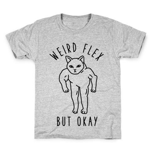 Weird Flex But Okay Buff Cat Kids T-Shirt