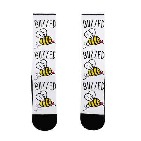 Buzzed Wine Bee Sock