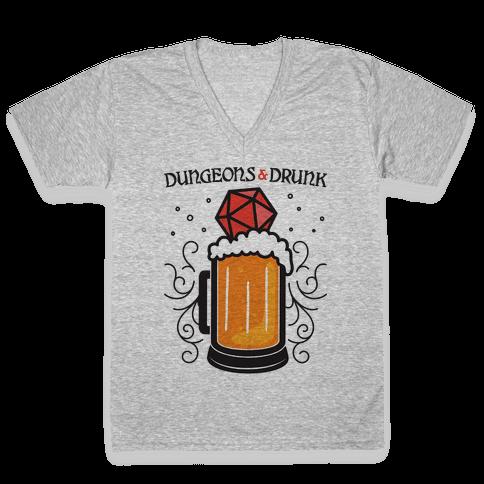 Dungeons & Drunk V-Neck Tee Shirt