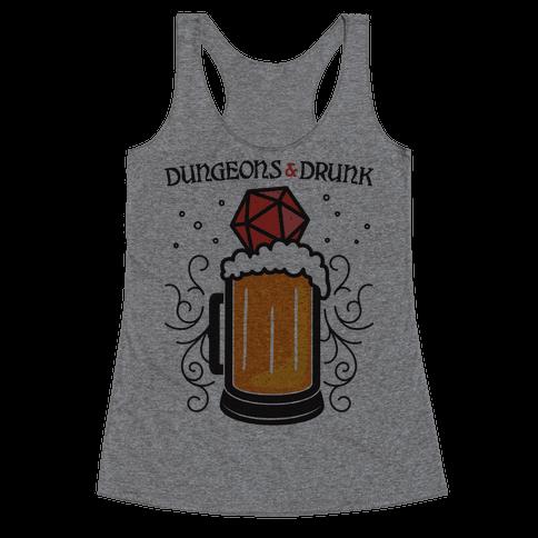 Dungeons & Drunk Racerback Tank Top