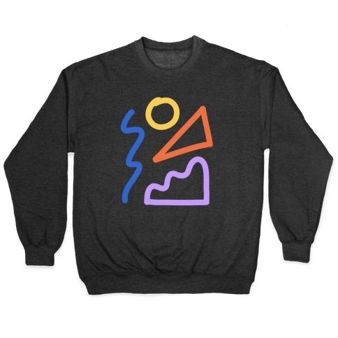 Bold Abstract Shape Outlines Pullover