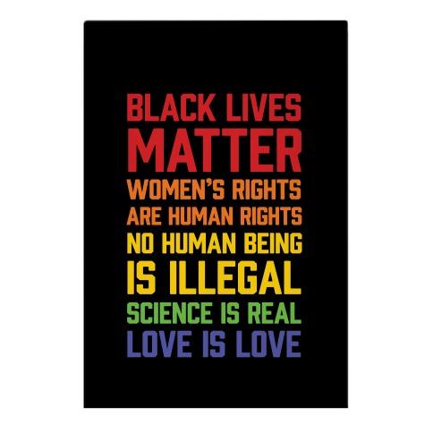 Black Lives Matter List Garden Flag