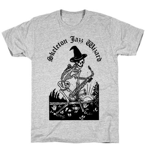 Skeleton Jazz Wizard T-Shirt