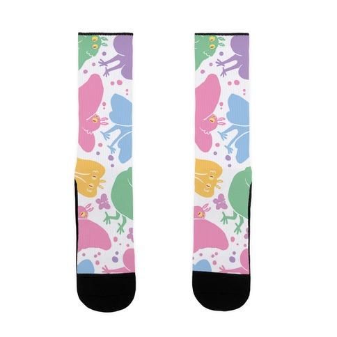 Cute Pastel Mothman Pattern Sock