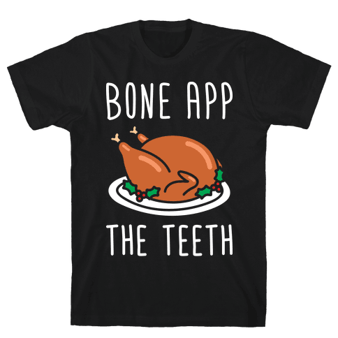 Bone App The Teeth (White) Mens T-Shirt