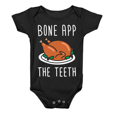Bone App The Teeth (White) Baby Onesy