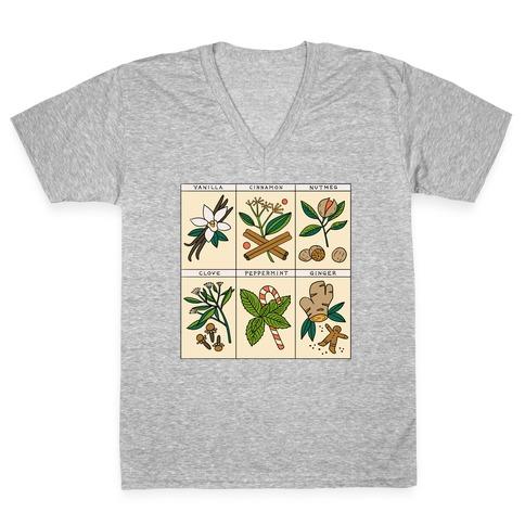 Holiday Spice Botanicals V-Neck Tee Shirt