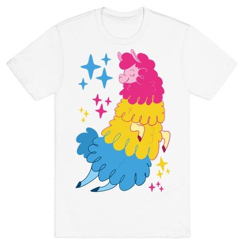 Pansexual Llama Mens/Unisex T-Shirt