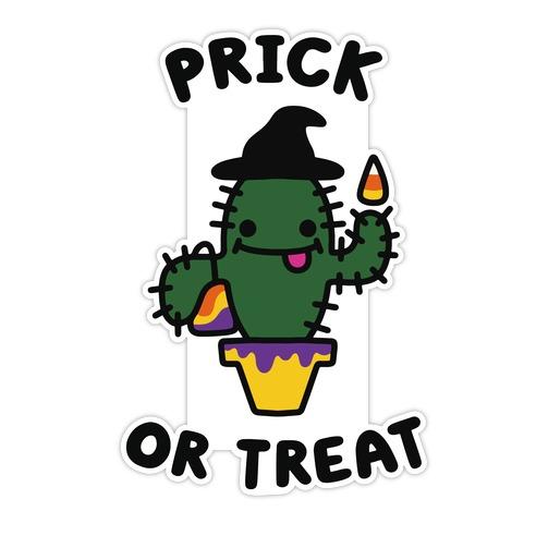 Prick or Treat Die Cut Sticker