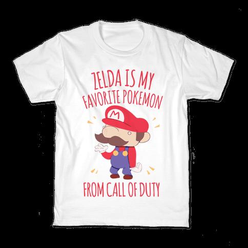Zelda Is My Favorite Pokemon Kids T-Shirt