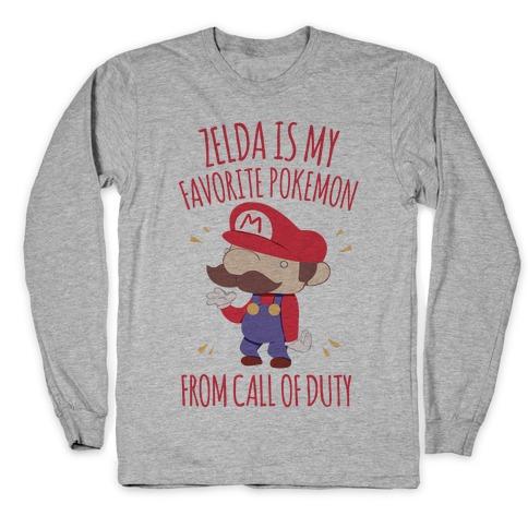Zelda Is My Favorite Pokemon Long Sleeve T-Shirt