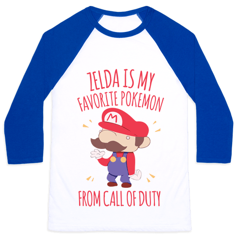 Zelda Is My Favorite Pokemon Baseball Tee