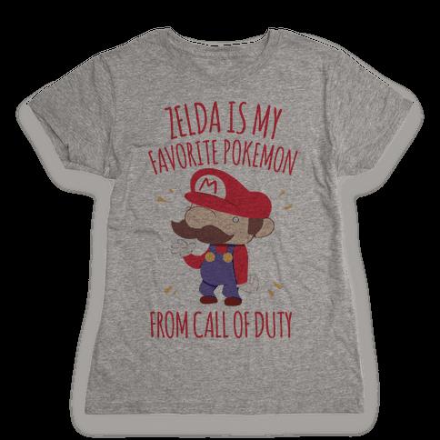 Zelda Is My Favorite Pokemon Womens T-Shirt