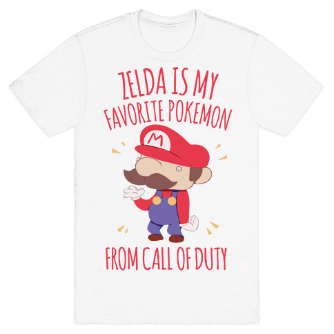Zelda Is My Favorite Pokemon Mens T-Shirt