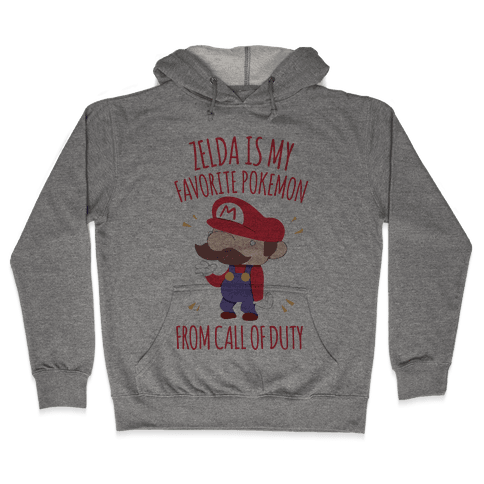 Zelda Is My Favorite Pokemon Hooded Sweatshirt