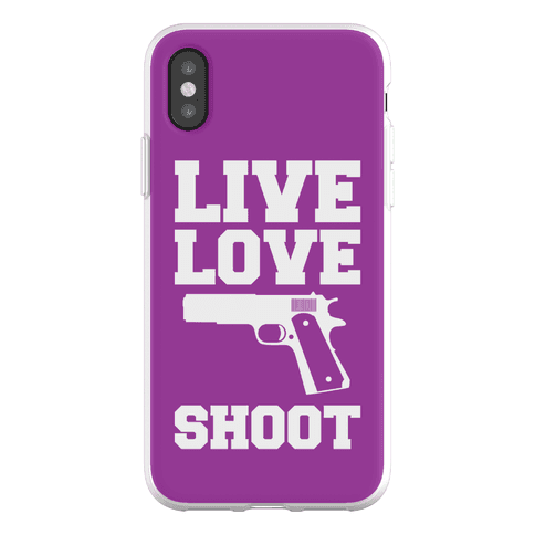 Live Love Shoot Phone Flexi-Case