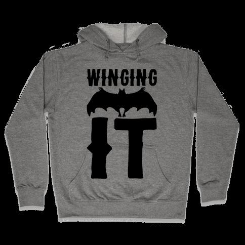 Winging It Bat  Hooded Sweatshirt