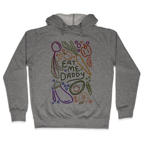 Eat Me Daddy Garden Pattern Hooded Sweatshirt