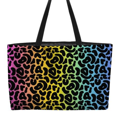 Rainbow Cheetah Print weekender