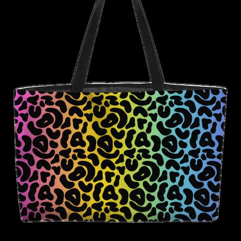 Rainbow Cheetah Print Weekender Tote