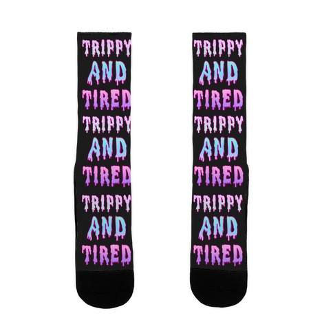 Trippy and Tired Sock