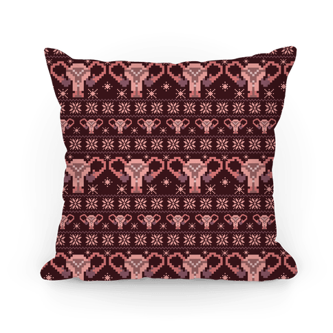 Uterus Sweater Pattern Pillow