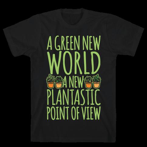 A Green New World Parody White Print Mens T-Shirt