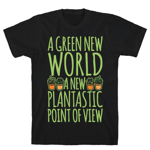A Green New World Parody White Print Mens T-Shirt