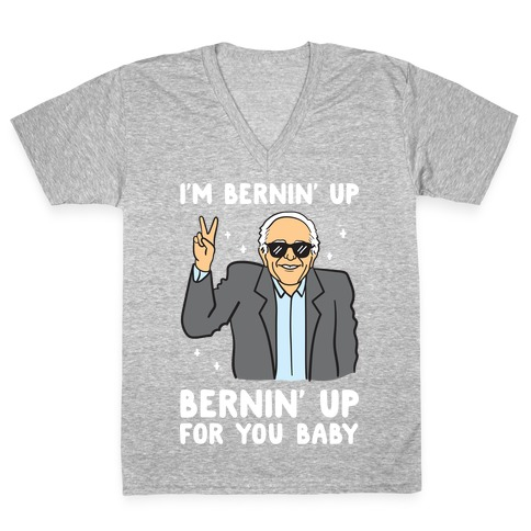 Bernin' Up For You Baby V-Neck Tee Shirt