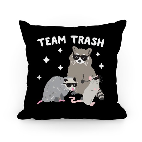 Team Trash Opossum Raccoon Rat Pillow