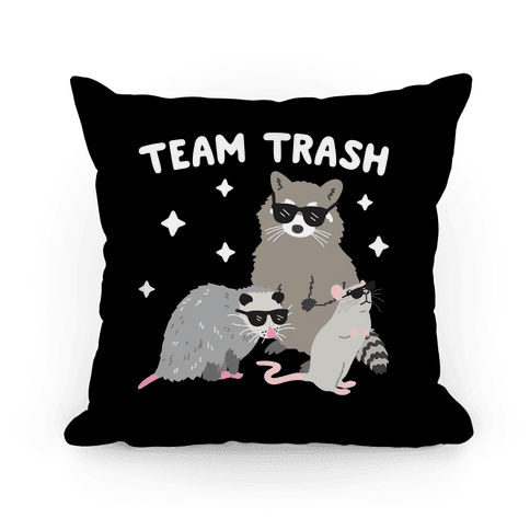 Team Trash Opossum Raccoon Rat Pillow