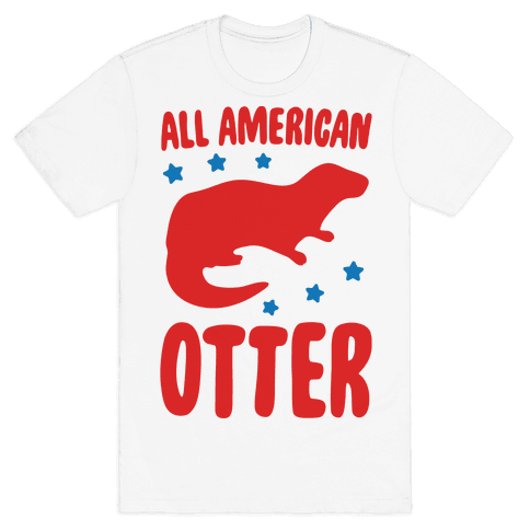 All American Otter  Mens T-Shirt