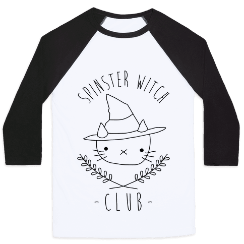 Spinster Witch Club Baseball Tee