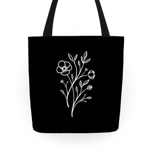 Wildflower Stippled Tattoo Tote