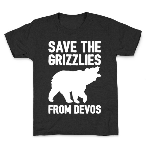 Save The Grizzlies from DeVos White Print Kids T-Shirt
