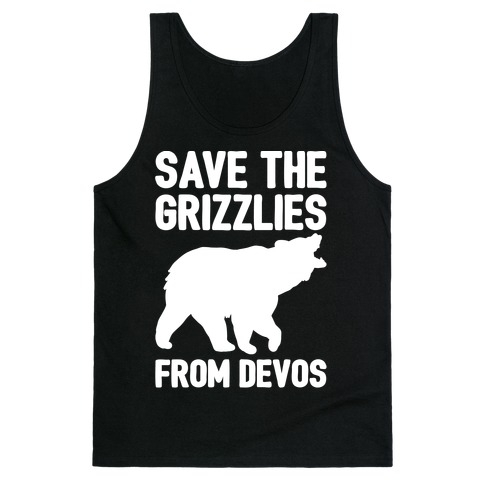 Save The Grizzlies from DeVos White Print Tank Top
