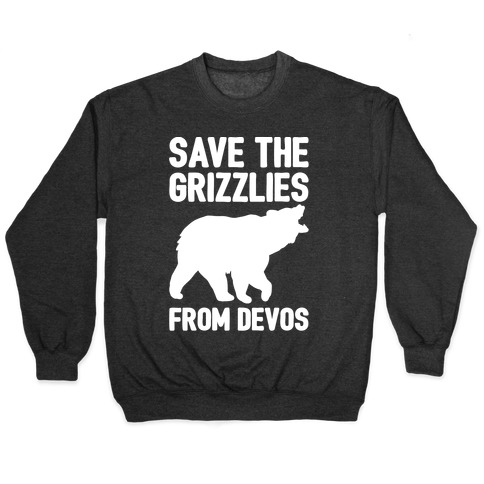 Save The Grizzlies from DeVos White Print Pullover