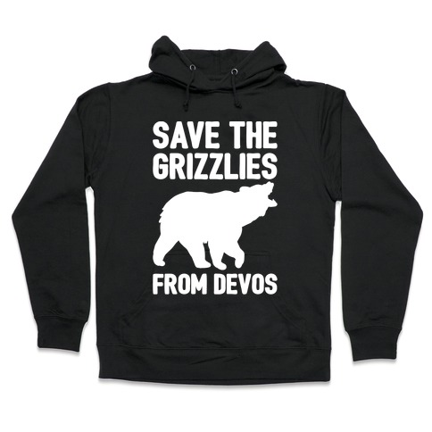 Save The Grizzlies from DeVos White Print Hooded Sweatshirt
