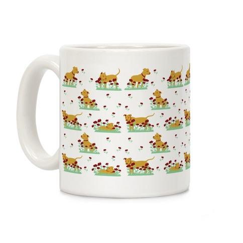 Pit Bulls and Poppies Coffee Mug